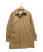 nanamica(ナナミカ)の古着「ステンカラーコート/GORE-TEX」|ベージュ