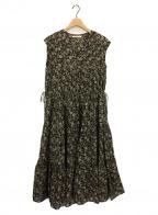 ne quittez pas(ヌキテパ)の古着「Cotton Voile Tiered Dress」 ブラック