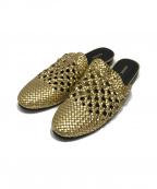 Pippichic(ピッピシック)の古着「メッシュサンダル」|ゴールド