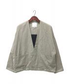 ()の古着「Dolman Sleeve Jacket」|ライトグレー