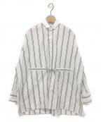 BRUNELLO CUCINELLI(ブルネロクチネリ)の古着「ストライプシャツ」 ホワイト