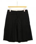 COMME des GARCONS HOMME PLUS(コムデギャルソンオムプリュス)の古着「ショートワイドパンツ」 ブラック