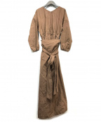 CASA FLINE()の古着「ワインディングシャツドレス」|ブラウン