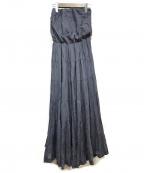 MARIHA(マリハ)の古着「ベアトップワンピース」|ネイビー