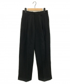 FUMIKA UCHIDA(フミカ ウチダ)の古着「コットンリネン3タックパンツ」|ブラック