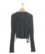DIESEL Black Gold(ディーゼル ブラック ゴールド)の古着「シースルーリブニット」|ブラック