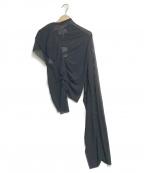 Maison Margiela 1(メゾンマルジェラ 1)の古着「アシンメトリーチュールカットソー」|ブラック