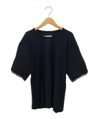 Maison Margiela 1(メゾンマルジェラ 1)の古着「袖切り替え半袖カットソー」|ブラック