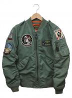 AVIREX(アヴィレックス)の古着「L-2Bジャケット」|カーキ