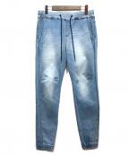 BAYFLOW(ベイフロー)の古着「デニムジョガーパンツ」 インディゴ