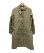 MHL.(マーガレットハウエル)の古着「ダウンライナー付ステンカラーコート」|ベージュ
