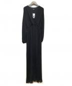 GUESS(ゲス)の古着「マヤベルテッドロングドレス」|ブラック