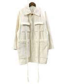 KURO(クロ)の古着「コットンルーズジャケット」|アイボリー