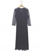 Loulou Willoughby(ルルウィルビー)の古着「シアーレースドレス」|ネイビー