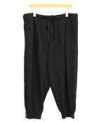 GROUND Y()の古着「ヘムリブバルーンパンツ」|ブラック