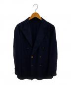 CARUSO(カルーゾ)の古着「ダブルブレスト金釦ジャケット」|ネイビー