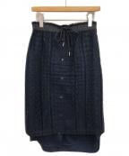 sacai()の古着「レーススカート」|ネイビー