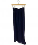 COMME des GARCONS()の古着「シースルー変形スカート」|ネイビー