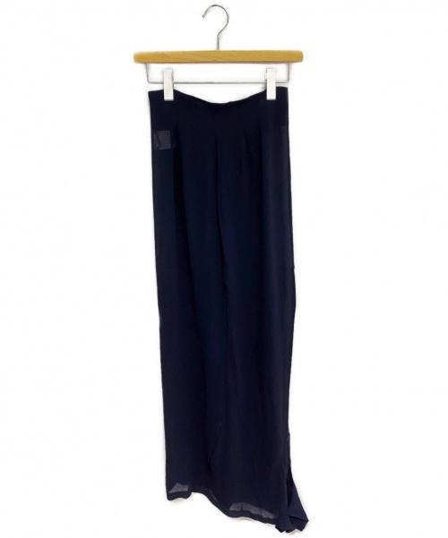 COMME des GARCONS(コムデギャルソン)COMME des GARCONS (コムデギャルソン) シースルー変形スカート ネイビー サイズ:Sの古着・服飾アイテム