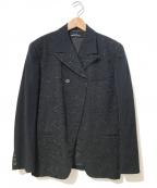 tricot COMME des GARCONS()の古着「[OLD]エンブロイダリーダブルジャケット」|ブラック