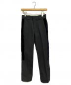 SueUNDERCOVER(スーアンダーカバー)の古着「リボン付きワークパンツ」|ブラック