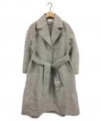 styling/ kei shirahata(スタイリング / ケイ シラハタ)の古着「ウールシルクドレスコート」 グレー