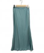 THE SHINZONE(ザ シンゾーン)の古着「マーメイドラインサテンスカート」|グリーン