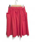 休日と詩(キュウジツトウタ)の古着「ギャザースカート」|レッド