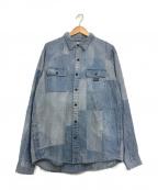 Denim & Supply Ralph Lauren(デニム&サプライ ラルフローレン)の古着「パッチワークデニムシャツ」|インディゴ
