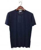 Cruciani(クルチアーニ)の古着「ハイゲージカシミヤソリッドTシャツ」|ネイビー