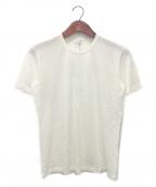 Cruciani(クルチアーニ)の古着「ハイゲージカシミヤソリッドTシャツ」|アイボリー
