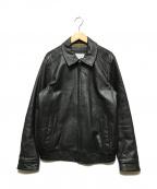 Calvin Klein(カルバンクライン)の古着「レザースイングトップ」|ブラック