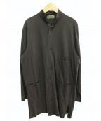 Yohji Yamamoto pour homme(ヨウジヤマモトプールオム)の古着「スタンドカラーカットシャツ」|グレー