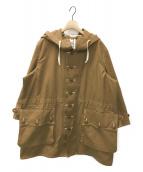 ()の古着「フーデッドコート」|ブラウン