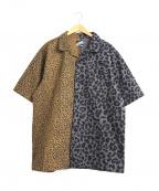 LEFLAH(レフラー)の古着「クレイジーパターンレオパードシャツ」|ブラウン×グレー
