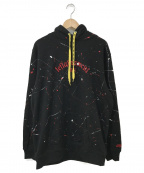 LEFLAH(レフラー)の古着「ペイントフーディ」|ブラック