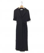 kei shirahata(ケイシラハタ)の古着「カシュクールドレス」 ブラック
