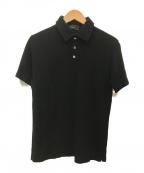 Zanone(ザノーネ)の古着「ポロシャツ」 ブラック