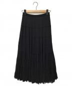 VIVIENNE TAM(ヴィヴィアンタム)の古着「パワーネットティアードスカート」|ブラック