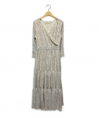 Loungedress(ラウンジドレス)の古着「ドットティアードワンピース」 ホワイト