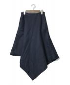 ()の古着「ボンディングリネンスカート」|ネイビー