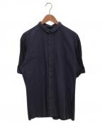ISSEY MIYAKE MEN(イッセイミヤケメン)の古着「切替シャツ」|ネイビー