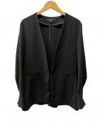 LAUTRE AMONT(ロートレアモン)の古着「ノーカラージャケット」 ブラック