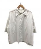 CABAN(キャバン)の古着「ハーフスリーブシャツ」 ホワイト