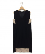YOKO CHAN()の古着「ノースリーブワンピース」|ブラック