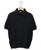 leno(リノ)の古着「ニットポロシャツ」|ブラック