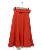 ADEAM(アディアム)の古着「ロングフレアスカート」|オレンジ