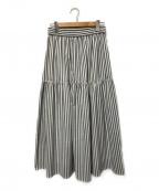 PLST(プラステ)の古着「ボイルティアードスカート」|グレー