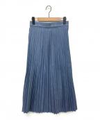 YANUK(ヤヌーク)の古着「プリーツデニムスカート」 インディゴ