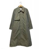 BEAUTY&YOUTH(ビューティアンドユース)の古着「撥水シャンブレーステンカラーコート」 オリーブ